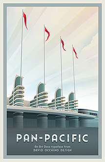 Pan-Pacific Auditorium poster by David Occhino